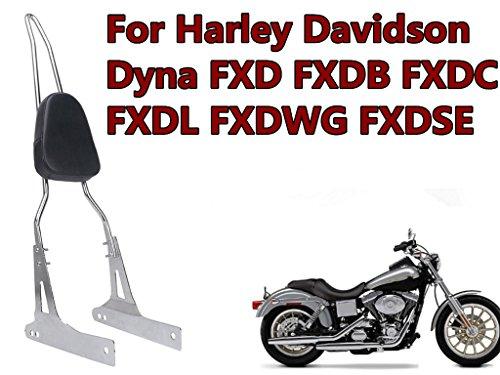 E-Most luxurious Detachable Chrome Rear Backrest Sissy Bar Pad Luggage Rack For Harley Davidson Dyna FXD FXDB FXDC FXDL FXDWG FXDSE_1 Set