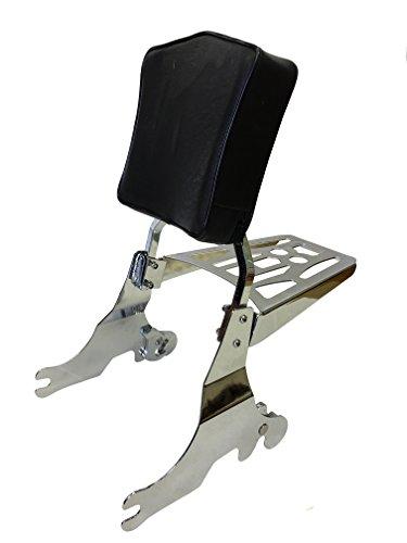 Sissy Bar Backrest Luggage Rack for 04 Harley Davidson Sportster XL 1200 883
