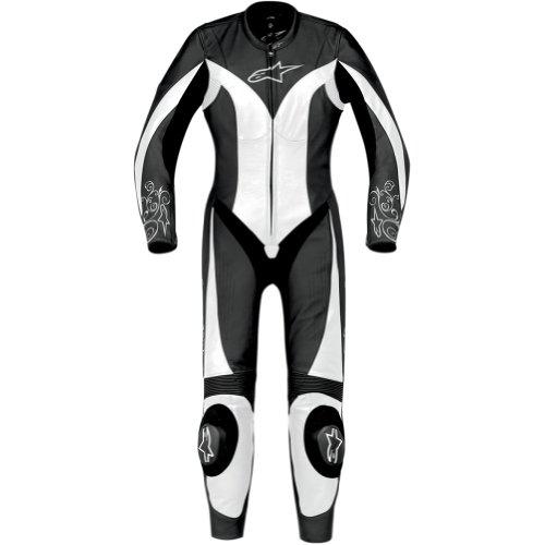 Alpinestars Stella Anouke Women's 1-piece Leather Street Motorcycle Race Suits - Black/white / Size 44
