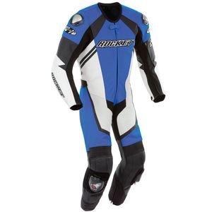 Joe Rocket Leather Speedmaster 6.0 One Piece Motorcycle Race Suit, Blue/wht/blk