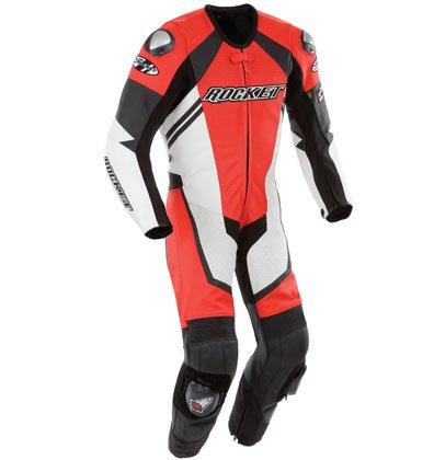 Joe Rocket Leather Speedmaster 6.0 One Piece Motorcycle Race Suit, Red/wht/blk