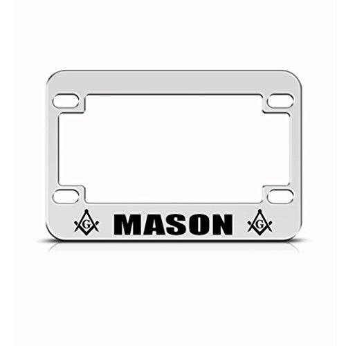 Speedy Pros Masonic Mason Moson Logo Metal Bike Motorcycle License Plate Frame Holder