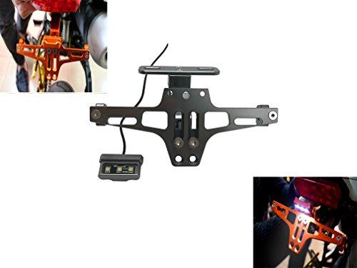 Number Plate Holder Led Adjustable Universal Tail Light License Plate Frame Bracket