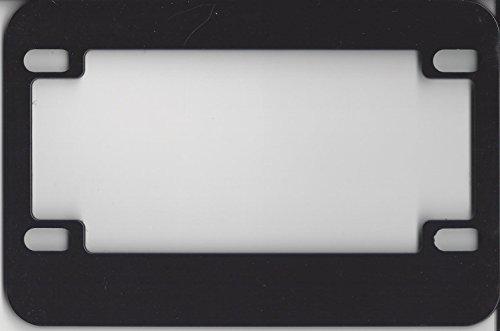 Motorcycle License Plate Frame Blank Black Metal
