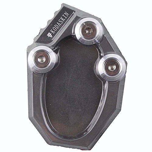 PRO-KODASKIN Motorcycle Kickstand Foot Side Stand Extension Plate Pad for Kawasaki KLX250 09-15 Versys 650 10-15 Titanium