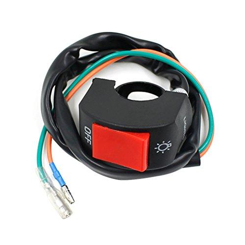 WINOMO Motorcycle Handlebar Mount Headlight Foglight Engine ONOFF Switch Button Stop