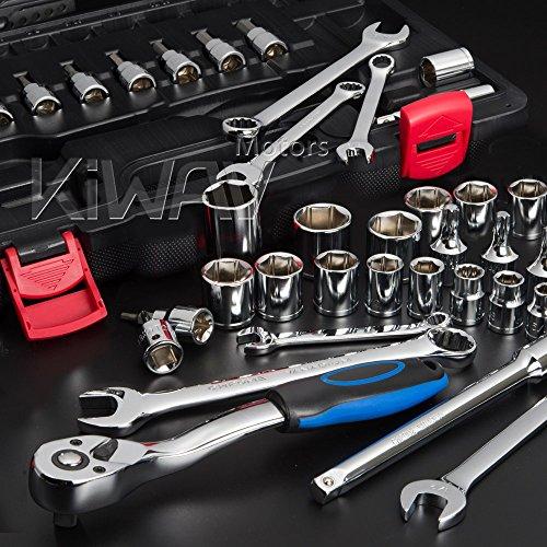 KiWAV tool box kit mixed 38 drive socket wrench maintenance repair 40pcs for Harley-Davidson motorcycle