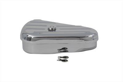 V-Twin 50-0605 Replica Left Side Chrome Oval Tool Box