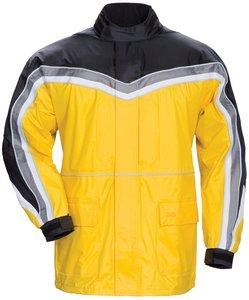 Tourmaster Elite Ii Rain Motorcycle Jacket Yl/bk Size:xlg