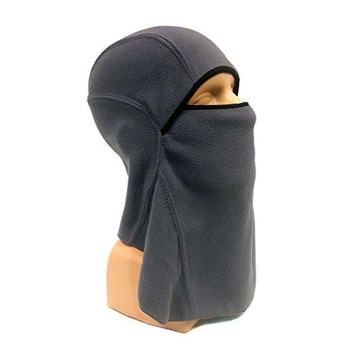 Motorcycle balaclava face mask Fleece Grey