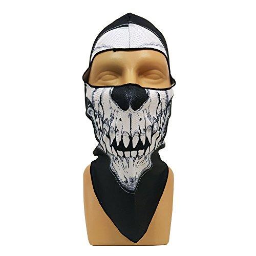 Motorcycle balaclava face mask skull Black