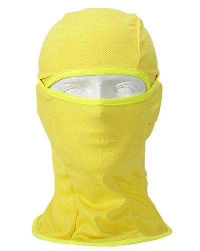 Moyishi MultiPurpose Face Mask 6 in 1 Premium Motorcycle Balaclava Yellow