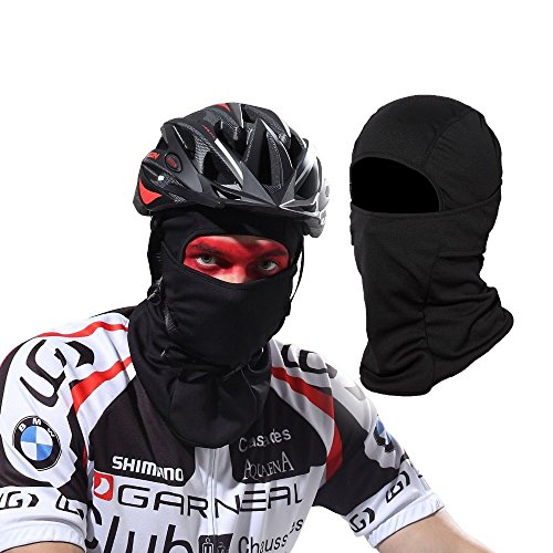 Windproof Balaclava Ski Mask DINHAND Motorcycle Neck Warmer Tactical Balaclava Hood Cold Weather Face Mask Protective Full Face Mask for Cycling and SportsBlack
