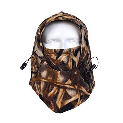Winter Balaclava for Men Polar Fleece Windproof Ski Mask Women Camouflage Face Mask Motorcycle Cycling Face Mask Tactical Balaclava Full Face RZ-12