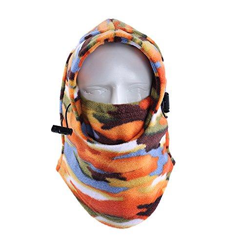 Winter Balaclava for Men Polar Fleece Windproof Ski Mask Women Camouflage Face Mask Motorcycle Cycling Face Mask Tactical Balaclava Full Face RZ-23