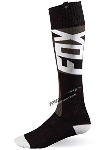Fox Racing Fri Vandal Thin Mens MX Motorcycle Socks - Black  Large
