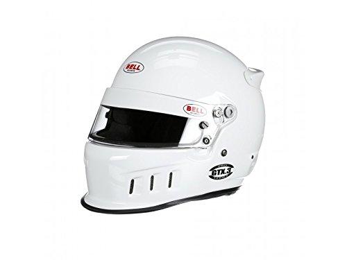 Bell Racing GTX3 WHITE 7 14 58 SA2015FIA8859 V15 BRUS HELMET