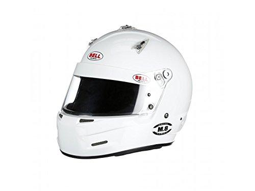 Bell Racing M8 WHITE LARGE 60 SA2015 V15 BRUS HELMET