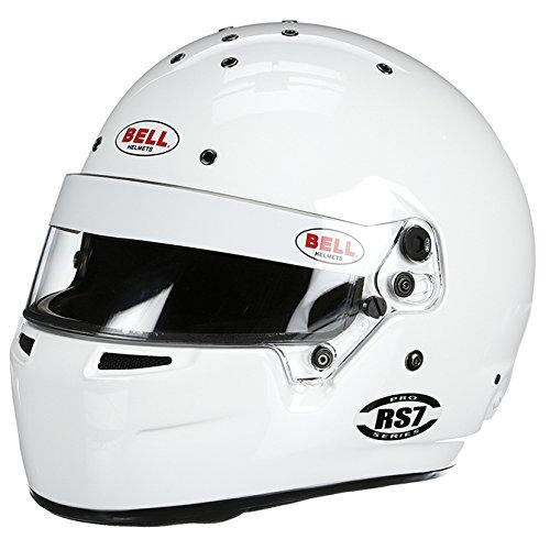 Bell Racing RS7 WHITE 7 38 59 SA2010FIA8859-2015 V15 BRUS HELMET