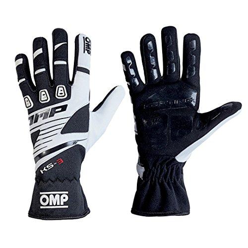 OMP KS-3 Karting Gloves Size Medium BlackWhite