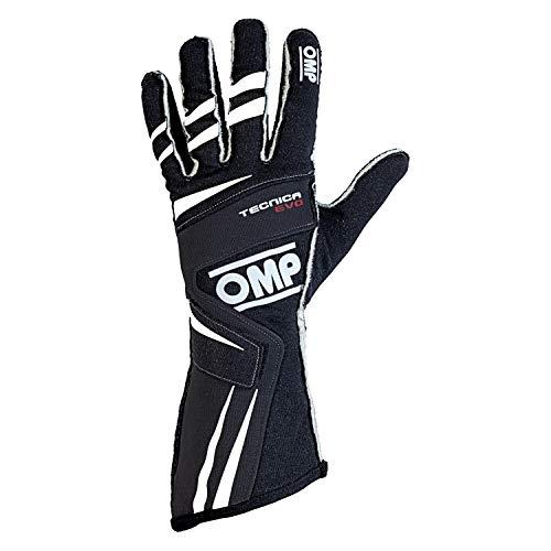 OMP Mens TECNICA EVO Gloves Black Medium