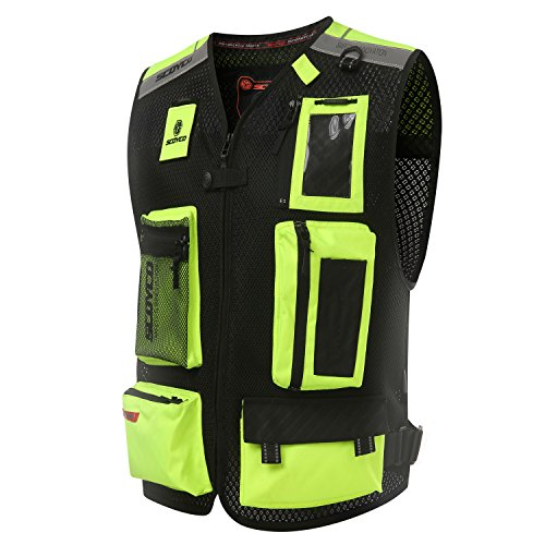 Scoyco JK46 Mens Motorcycle Auto Racing Vest XXL Green