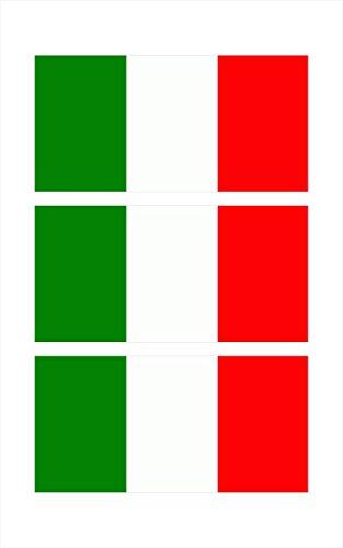 3 - Italy Italia Italian Flag Hard Hat Biker Helmet Stickers Decal