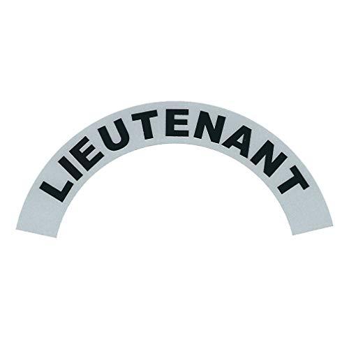 Lieutenant Firefighter Reflective Vinyl Sidebar Sticker Helmet Decal - T 18 Black Silver