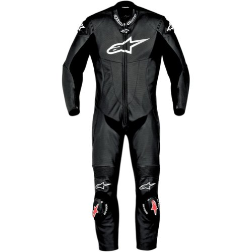 Alpinestars SP-1 Mens 1-Piece Leather Street Racing Motorcycle Race Suits - Black  Size 48