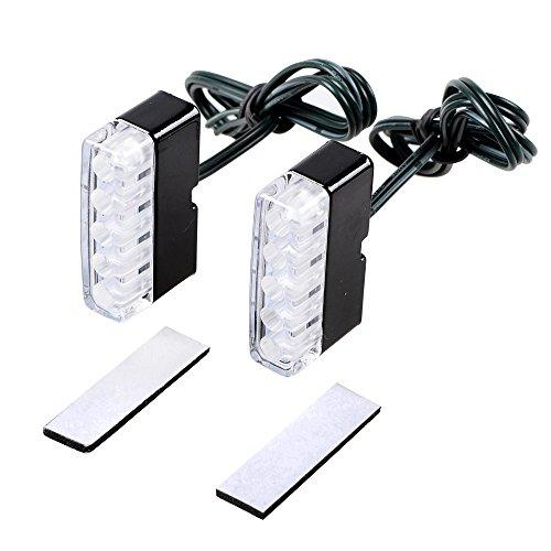 2x Amber Cowl Slim Flush 5 LED Turn Signal Blinker Indicator Front Rear Peg Lamp Light For Motorcycle Standard Sport Racing Street Bike