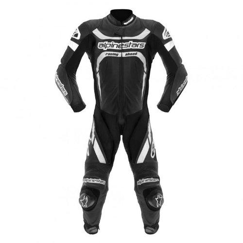 Alpinestars Motegi One-piece Leather Suit - 2014 - 52/black/white