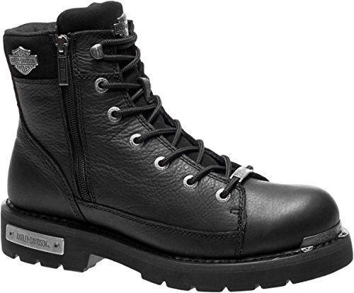 HARLEY-DAVIDSON FOOTWEAR Mens Chipman Motorcycle Boot Black 8 Medium US