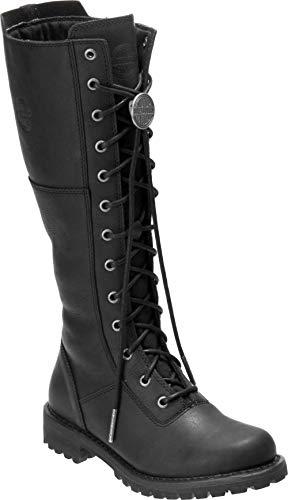 HARLEY-DAVIDSON FOOTWEAR Womens WALFIELD Motorcycle Boot Black 9 M US