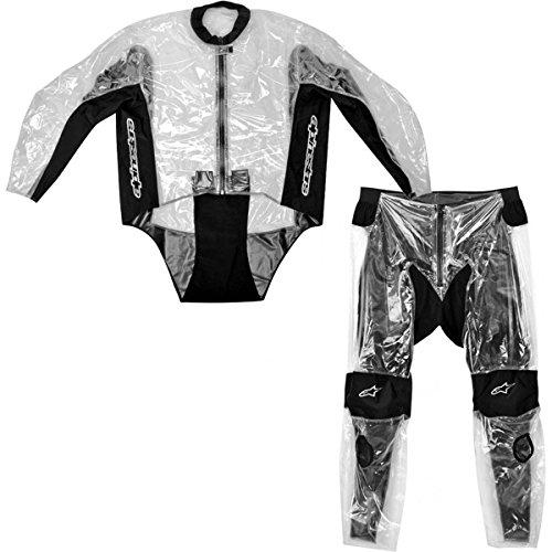 Alpinestars Racing Rain Mens 2-Piece Motorcycle Race Suits - Transparent  Size Large