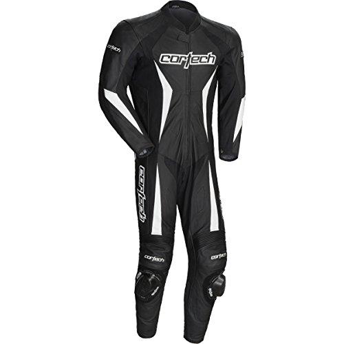 Cortech Latigo 20 Mens 1-Piece Leather Street Racing Motorcycle Race Suit - Black  Large