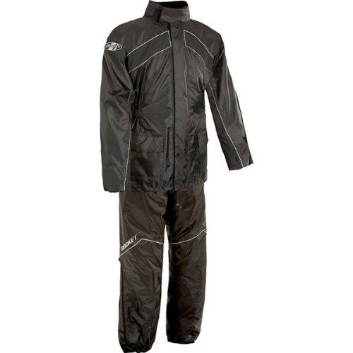 Joe Rocket RS-2 Mens 2-Piece Street Racing Motorcycle Race Suit - BlackBlack  Large