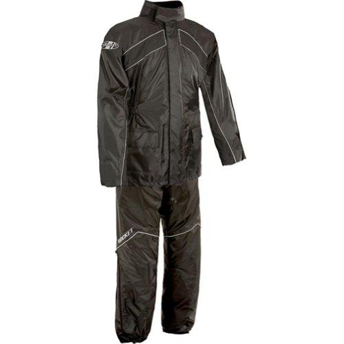 Joe Rocket RS-2 Mens 2-Piece Street Racing Motorcycle Rain Suits - BlackBlack  Large
