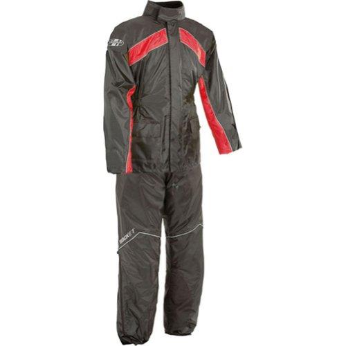 Joe Rocket RS-2 Mens 2-Piece Street Racing Motorcycle Rain Suits - BlackRed  Large