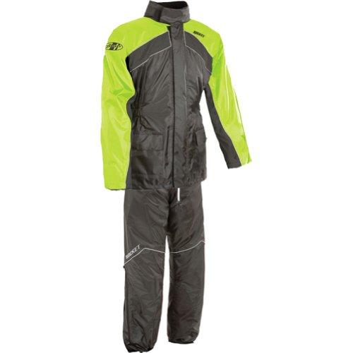 Joe Rocket RS-2 Mens 2-Piece Street Racing Motorcycle Rain Suits - Hi-VizNeon  X-Large