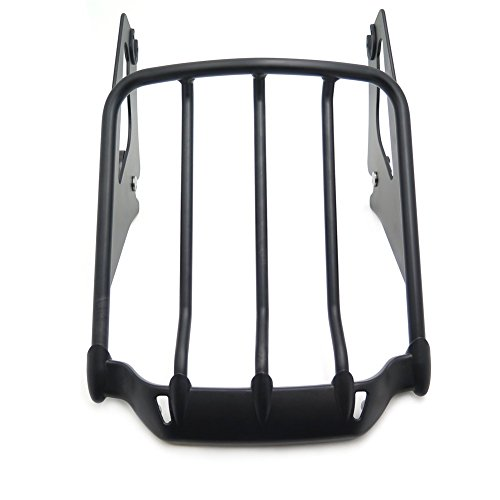 XKH MOTO- Detachable Luggage Rack For Harley 09-17 Touring Road KingRoad Glide Flat Black