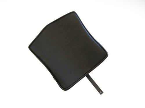 Removable Adjustable Backrest for Harley Davidson Dyna Corbin Seats - Square - Maltese Cross