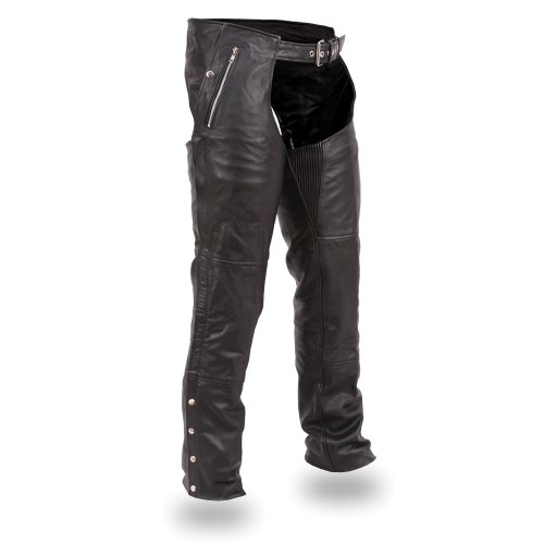 First Manufacturing Unisex Double Deep Pocket Thermal Chaps (black, Large)