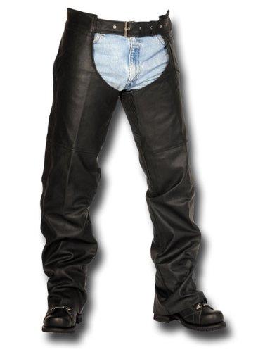 Interstate Leather Spandex Thigh Unisex Chap (black, X-large)