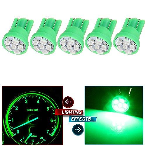 CCIYU 5x T10 Wedge Green Speedometer Instrument Gauge Cluster LED Light Bulbs 158 194
