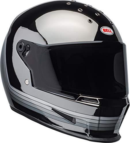 Bell Eliminator Street Motorcycle Helmet Spectrum Matte BlackChrome MediumLarge