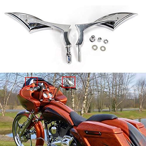 Chrome Motorcycle Cruiser Blade Mirrors For Harley-Davidson Street Glide FLHX