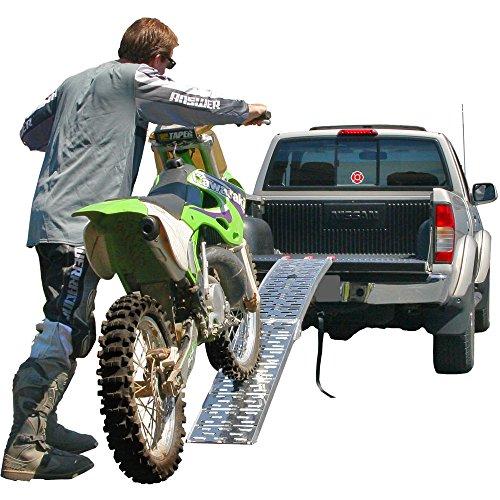 Rage Powersports AFP-9012 89 Single Folding Loading Ramp for Off-Road MotocrossEnduroDirt Bikes