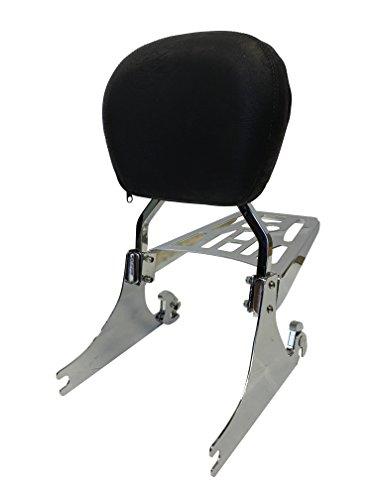 Contoured - Sissy Bar Backrest Luggage Rack for Harley Davidson Softail FXSTFLST Models 200mm Wide Rear Tire