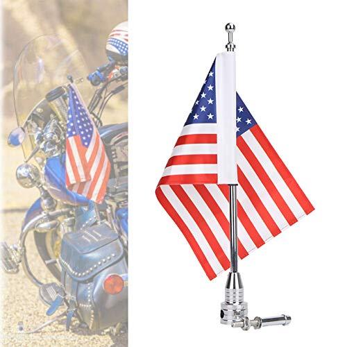Jade Motorcycle Flag Pole Mount 6x9 Flag American USA For Honda Goldwing CB VTX CBR Yamaha Harley Davidson Luggage Rack