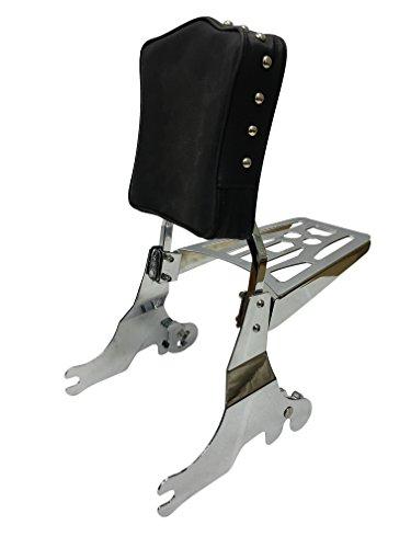 Studded - Sissy Bar Backrest Luggage Rack for 94-03 Harley Davidson Sportster XL 1200 883
